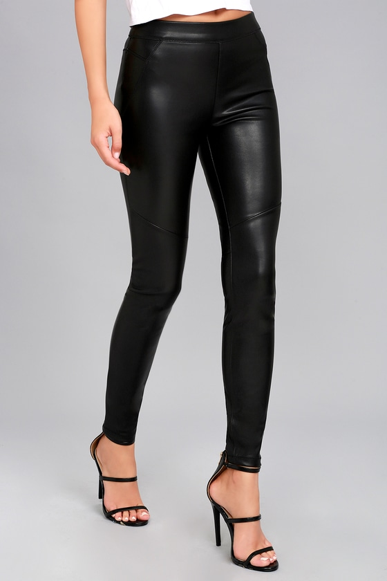 96412475fbfc Free People Vegan Leather Leggings - Black Leggings