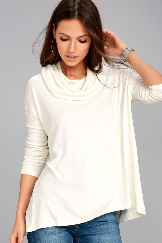 Jack by BB Dakota Hogen Ivory Sweater Top 1