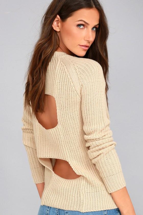 Jack by BB Dakota Percival Beige Backless Sweater 3