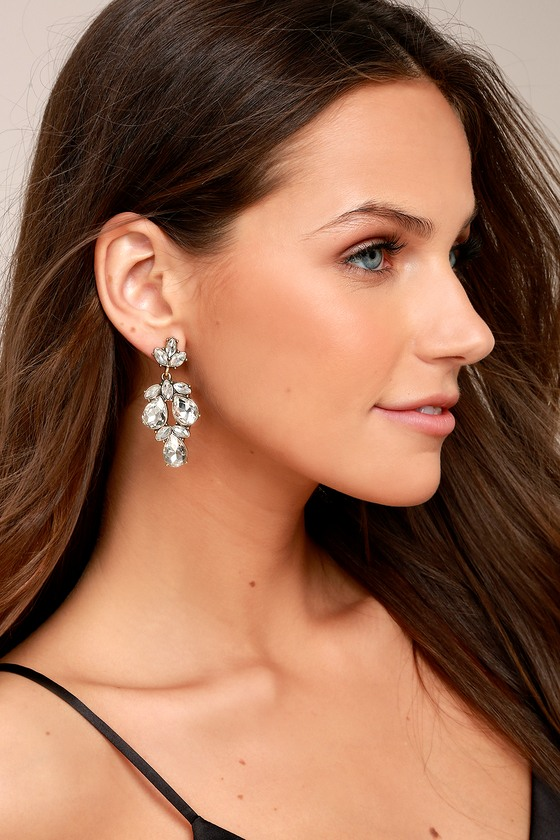 Bound to Wow Gold Rhinestone Earrings 1