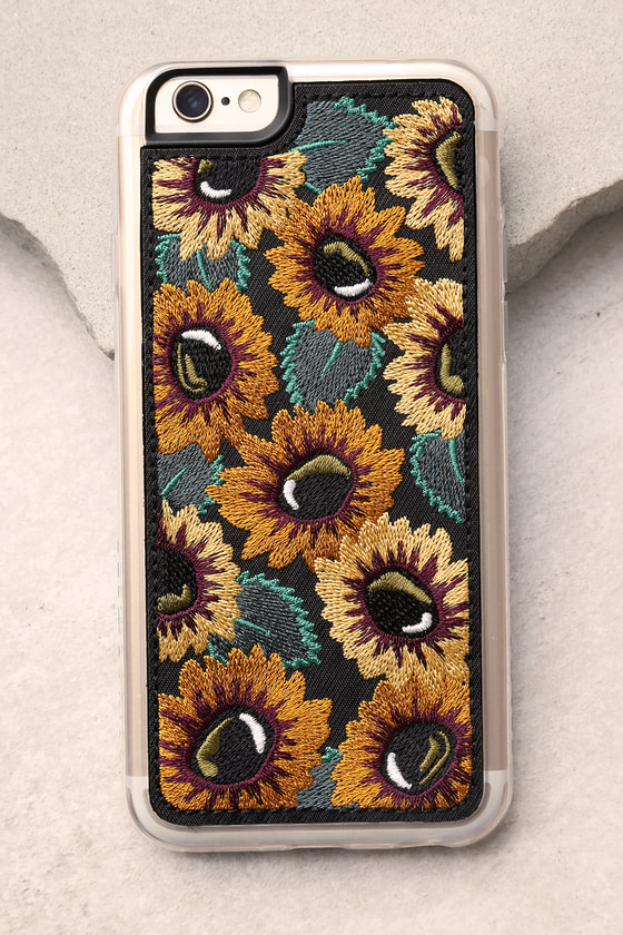 san francisco cfe36 b9be2 Zero Gravity Sunny Black Embroidered iPhone 6 and 6s Case