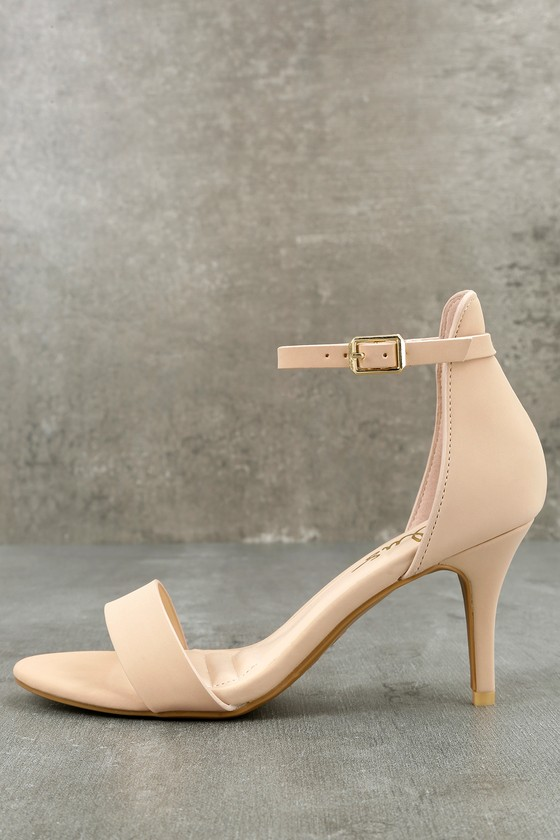 Published Author Nude Nubuck Ankle Strap Heels 8