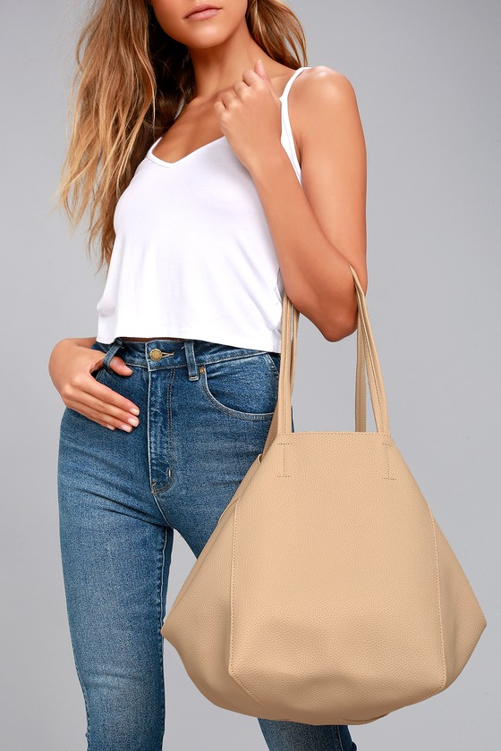 Lulus - Love How You Love Me Beige Tote - Vegan Friendly