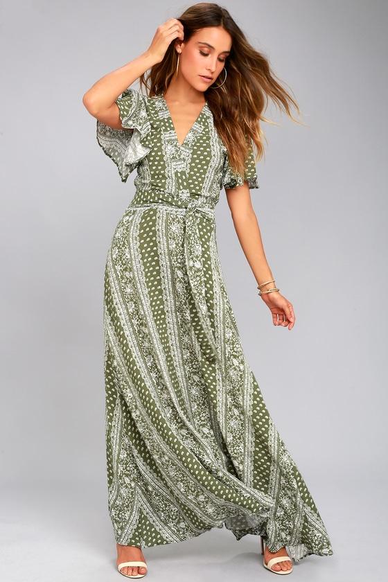 Sage the Label Catalina Green Print Maxi Dress 1