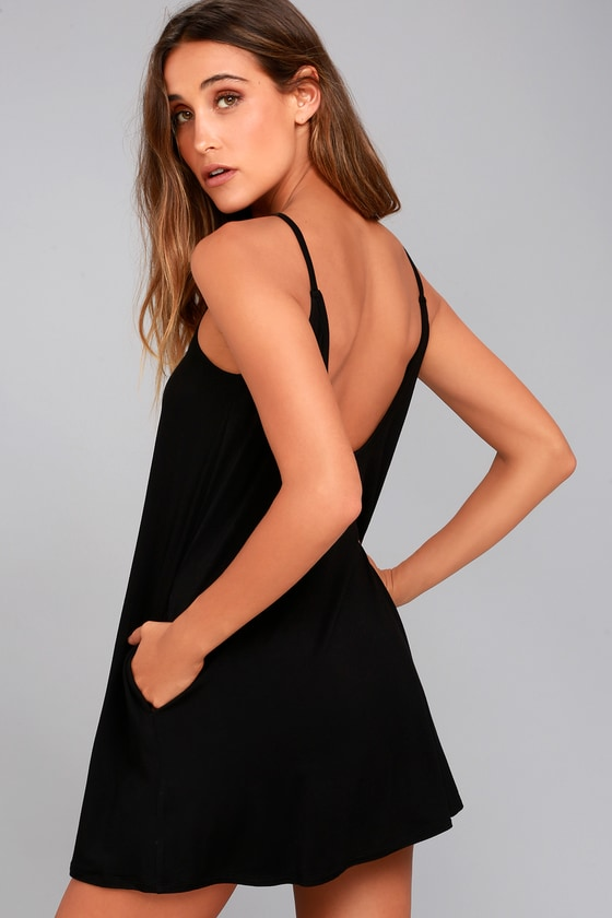 RVCA Pipe Dream Black Swing Dress 6