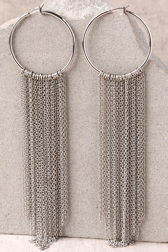 In the Light Silver Chain Earrings 2