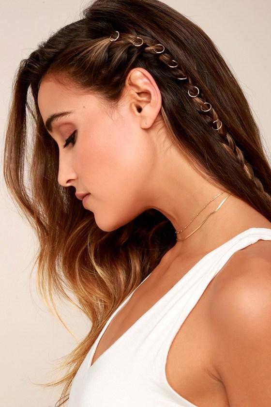 Elemental Love Gold Hair Charms 4