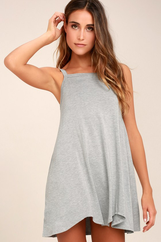 RVCA Thievery Heather Grey Dress 6