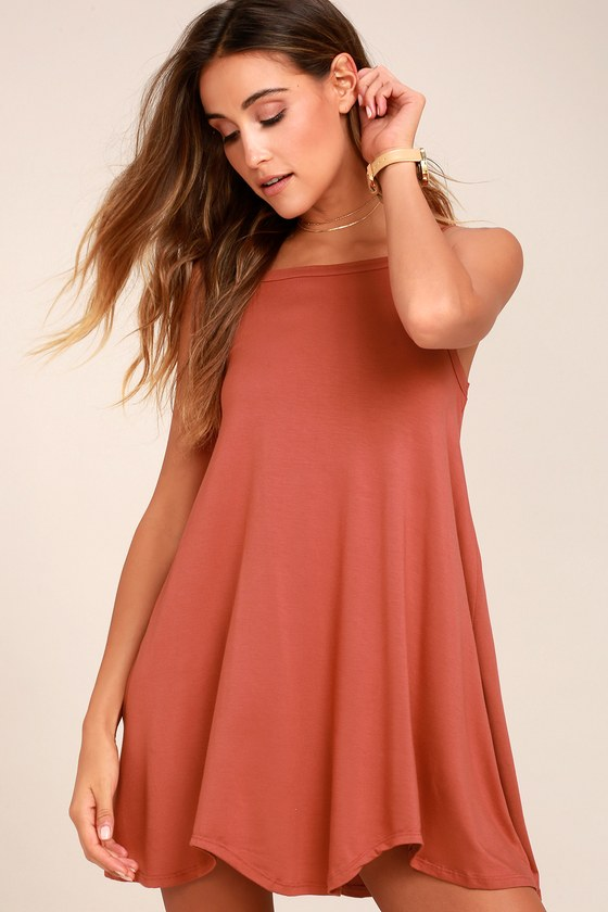 RVCA Thievery Rust Red Dress 6