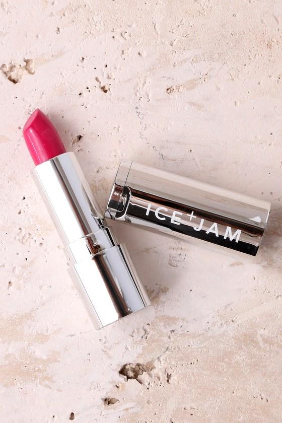 ICE + JAM Lesbehonest Berry Pink Jam Lipstick 4