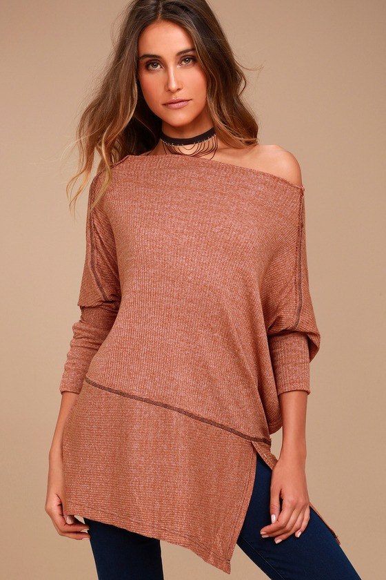 Free People Londontown Rust Orange Long Sleeve Thermal Top 3