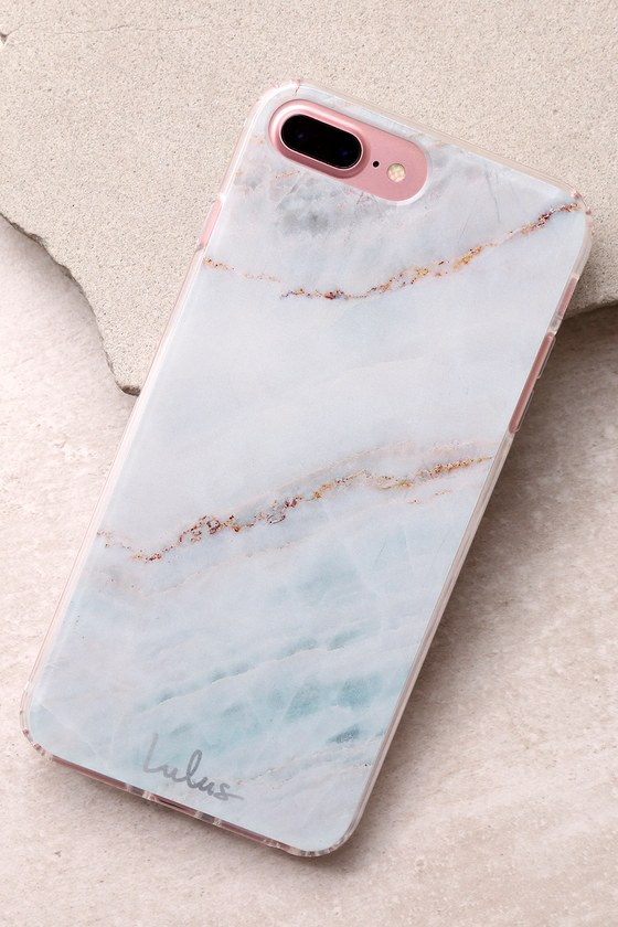 The Casery Multi Marble Silver iPhone 6/6s Plus and 7 Plus Case 1