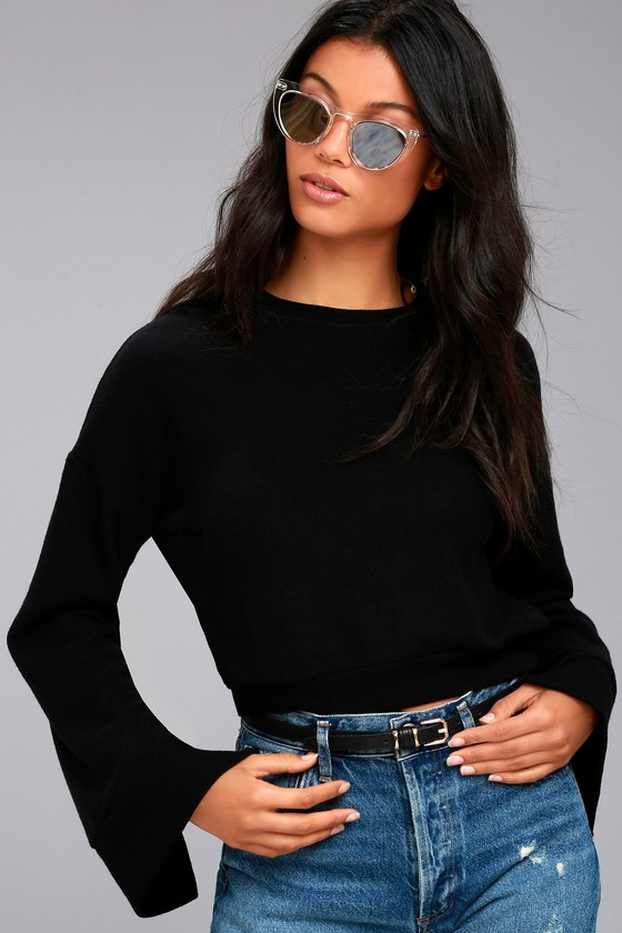 Project Social T Louis Black Cropped Sweatshirt 2