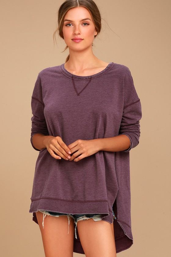 The Weekender Washed Plum Purple Sweatshirt 2