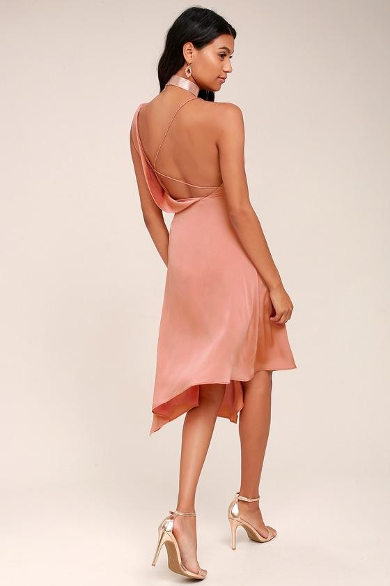 Keepsake Sidelines Dress - Blush Pink Dress - Midi Dress