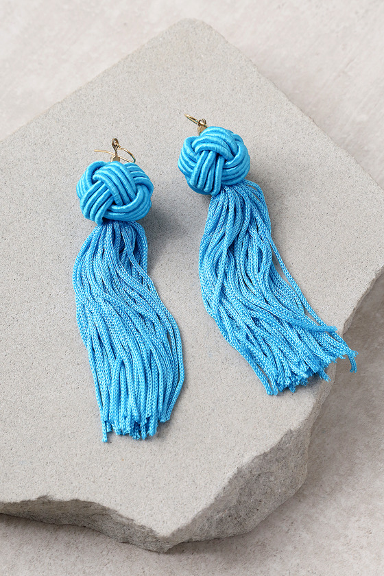 bcf5912dd Vanessa Mooney Astrid - Turquoise Tassel Earrings
