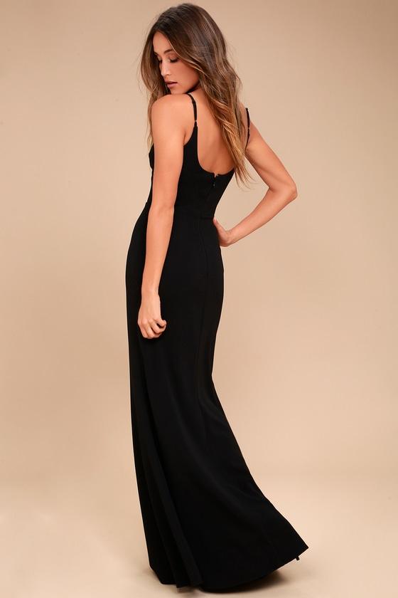 Infinite Glory Black Maxi Dress 2
