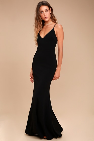 342b5138d2 Sexy Black Maxi Dress - Mermaid Maxi Dress - Bodycon Maxi
