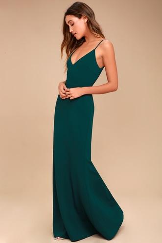 eb08072c67 Infinite Glory Forest Green Maxi Dress