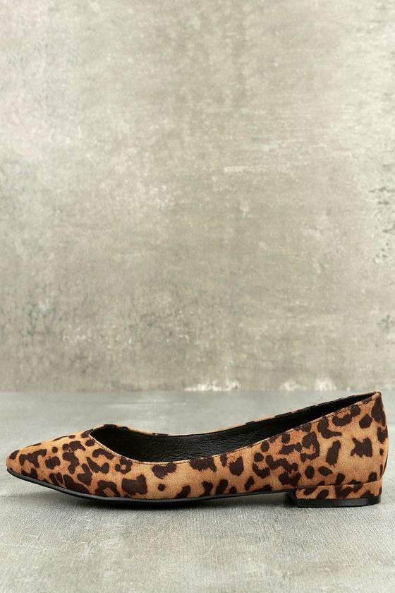 8b59368999a1 Chic Leopard Print Flats - Pointed Toe Flats - Classy Flats