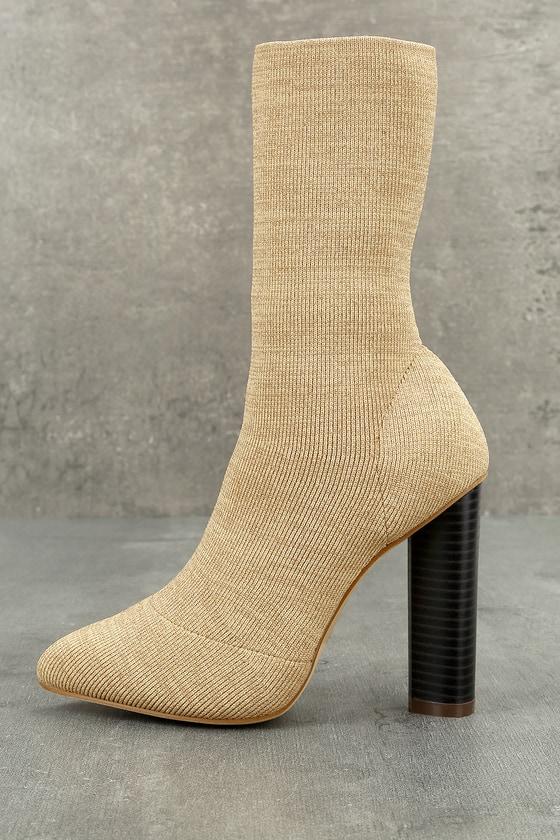 Emmaline Natural Mid-Calf Boots 1