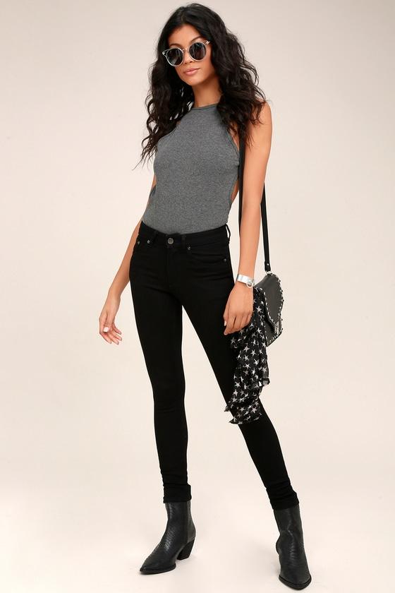Cheap Monday Mid Skin Black Skinny Jeans 2