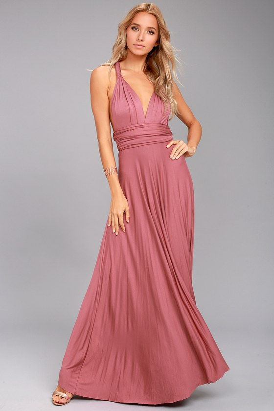 33873f58df2 Awesome Rusty Rose Dress - Maxi Dress - Wrap Dress