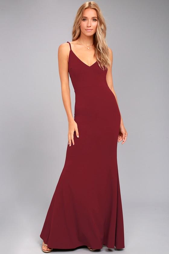 Infinite Glory Wine Red Maxi Dress 1