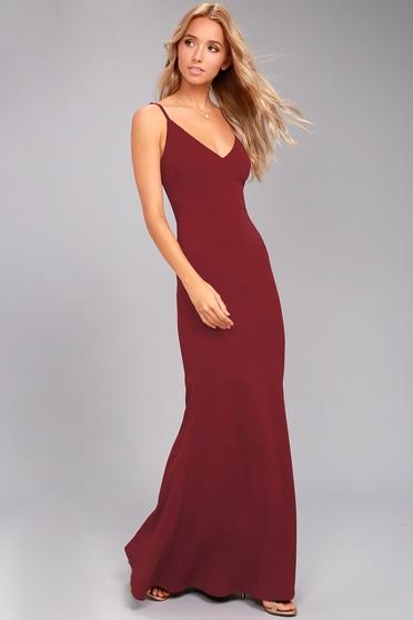 414d0c977a8 Sexy Wine Red Maxi Dress - Mermaid Maxi Dress - Bodycon Maxi