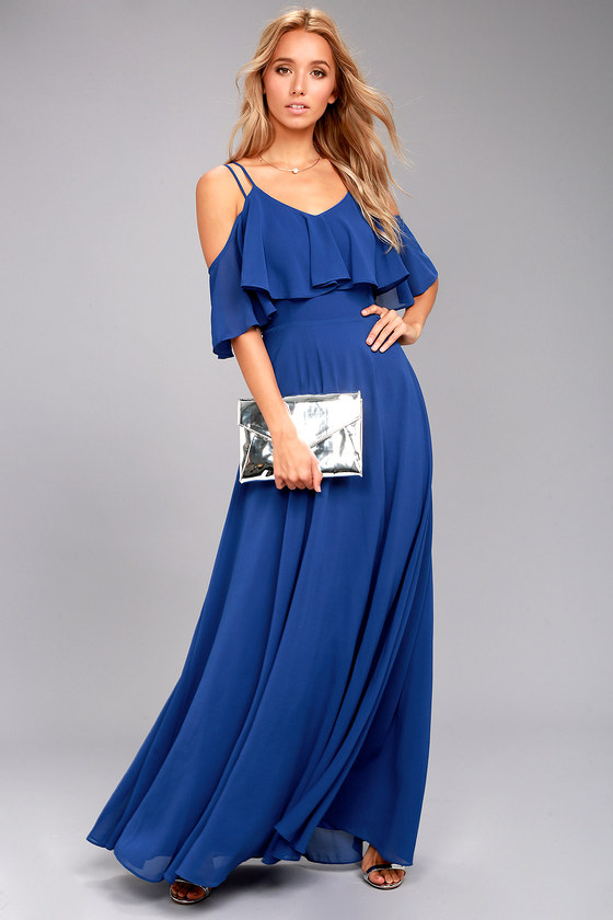 Earthly Desire Royal Blue Maxi Dress 2
