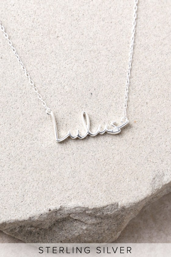 Love Lulus Sterling Silver Necklace 1