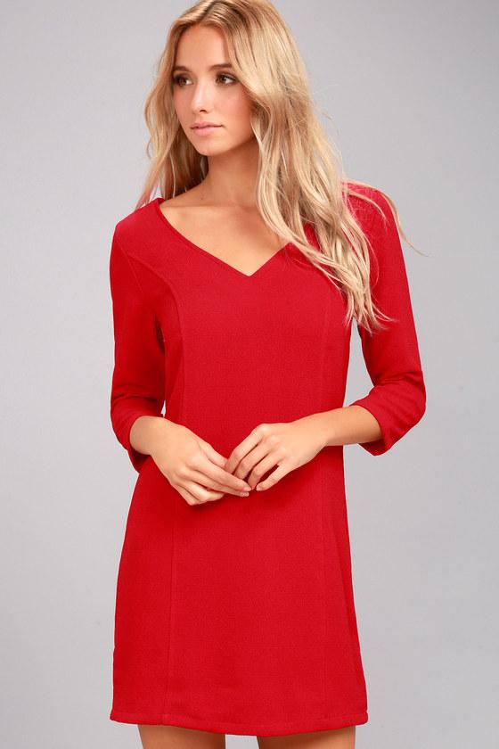 Jack by BB Dakota Luther Red Long Sleeve Dress 2