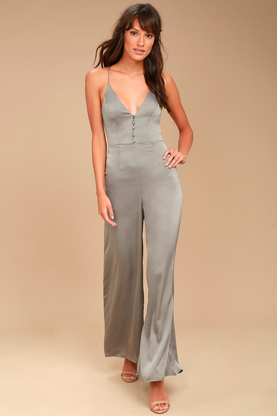 Finders Keepers Spectral Sage Green Jumpsuit 2