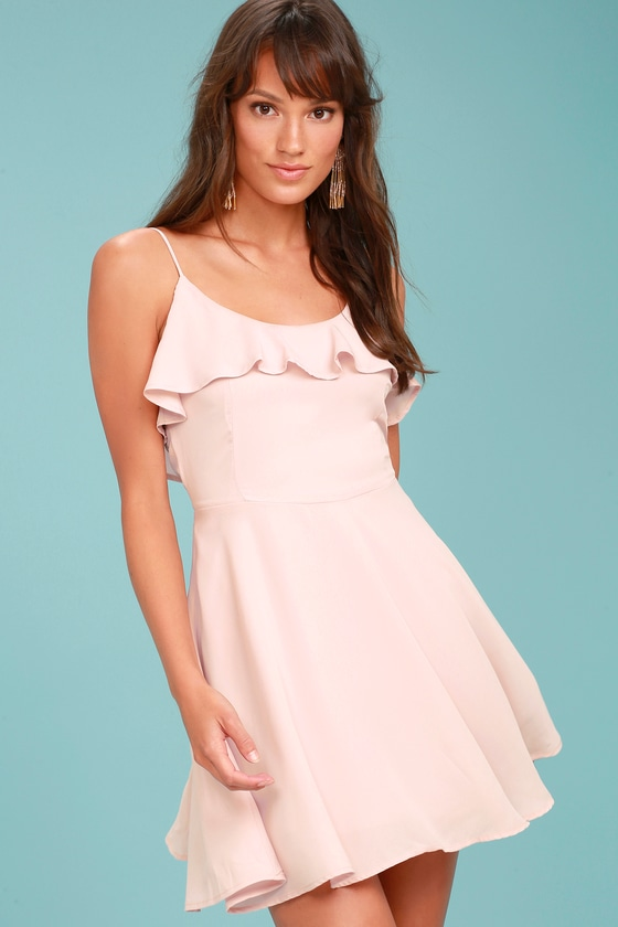 Lucy Love Celebration Blush Pink Skater Dress 2