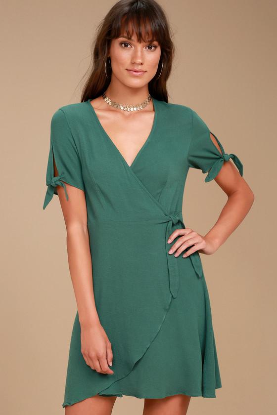 My Philosophy Green Wrap Dress 2