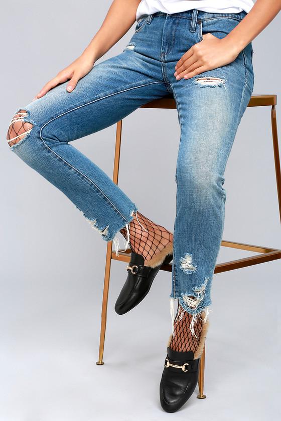 02feac2802b Steve Madden Jill Loafer Slides - Faux Fur Loafers - Slip-On Loafers ...