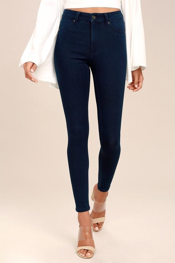 5cdf461de359 Cheap Monday High Spray Dark Blue High-Waisted Skinny Jeans