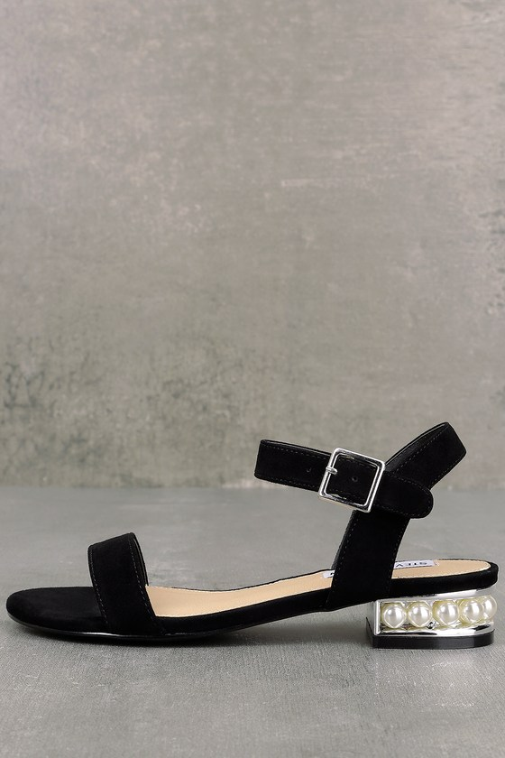 239f4ae6bc3 Steve Madden Cashmere - Suede Sandals - Pearl Heel Sandals