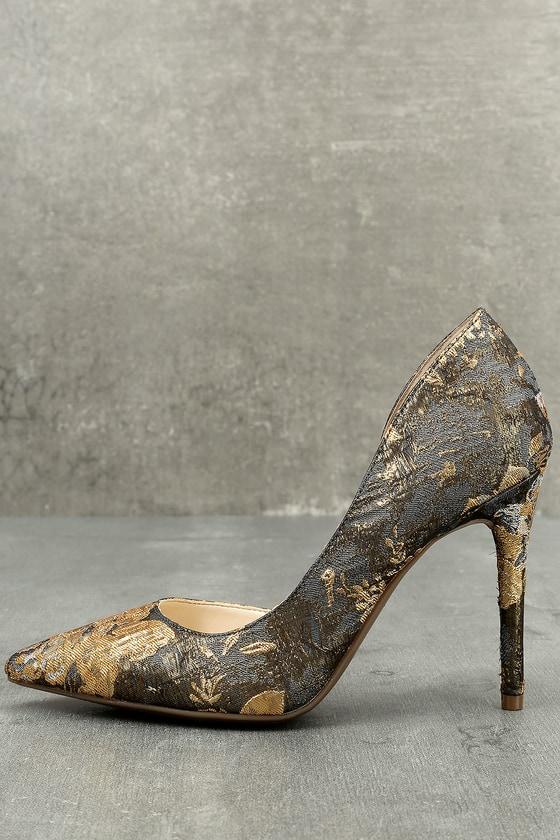 812990b03844 Jessica Simpson Lucina - Brocade Heels - D Orsay Pumps
