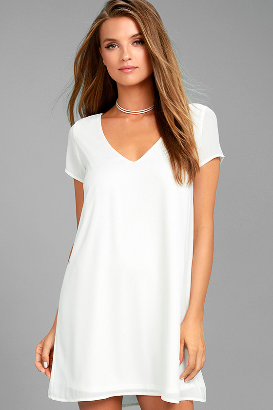 Freestyle White Shift Dress 3