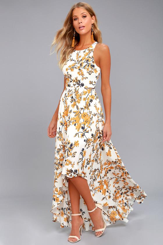 de2e609312fe Ali & Jay Bohemian Rhapsody Cream Floral Print Maxi Dress