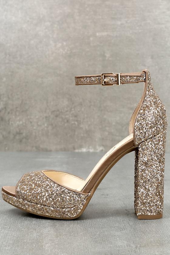 e2edee389ba Jessica Simpson Jenee2 Lira - Platform Heels - Gold Heels