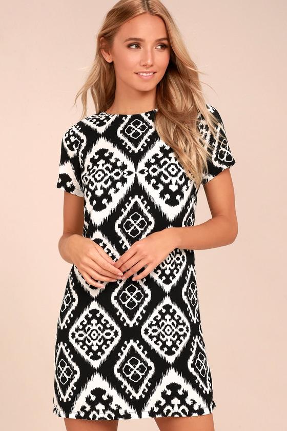 Give Me a Print Black Print Shift Dress 2