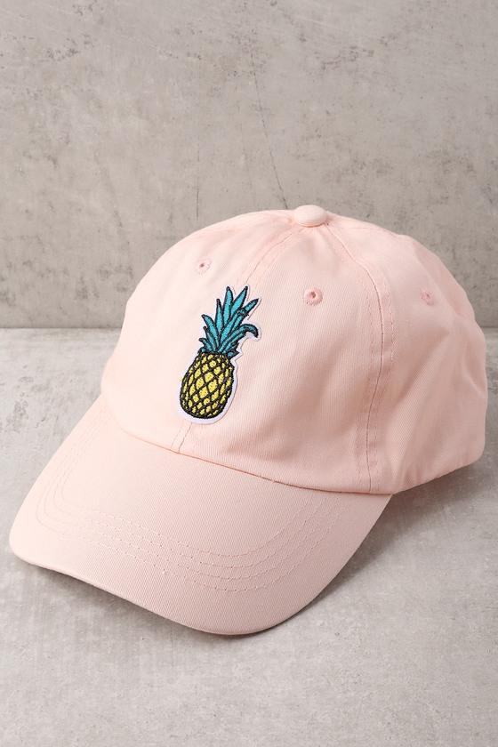 c793cdde32b05 Trendy Blush Pink Baseball Cap - Pineapple Hat - Dad Hat
