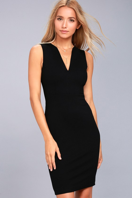 Quite Spectacular Black Bodycon Dress 1