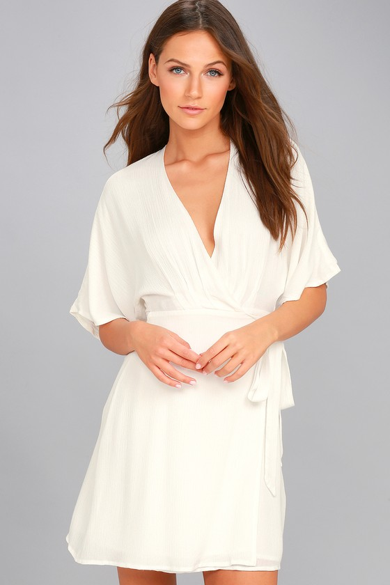Sunday Sun White Wrap Dress 5