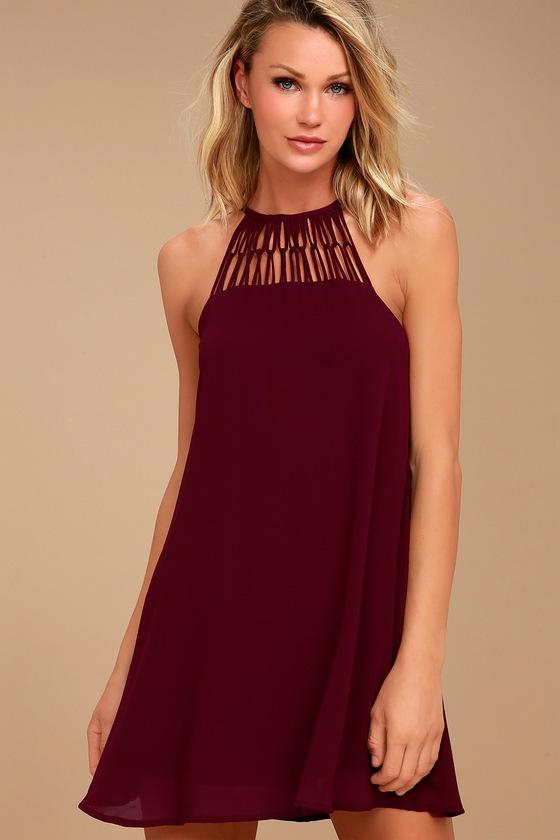 Tell Me Plum Purple Swing Dress 2
