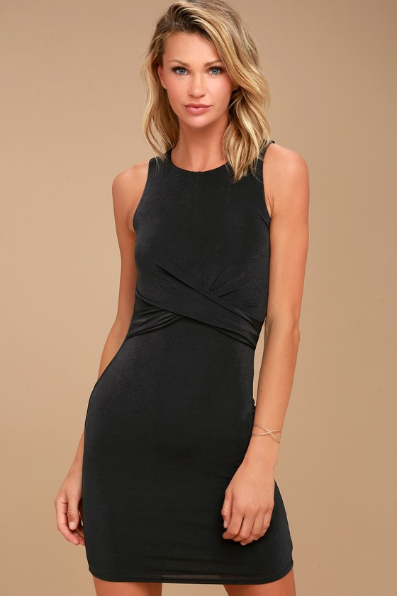 More than a Dream Charcoal Grey Sleeveless Bodycon Dress 1