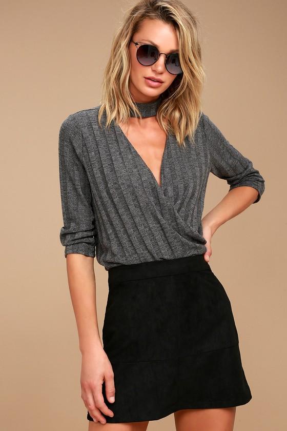 Shenandoah Black Suede Mini Skirt 3