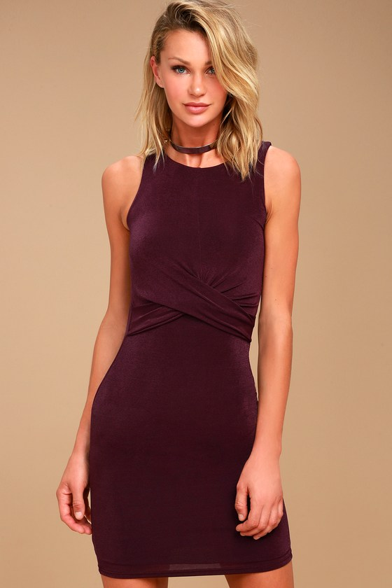More than a Dream Plum Purple Bodycon Dress 2